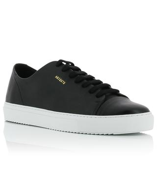 Cap-Toe black grained leather and smooth leather sneakers AXEL ARIGATO