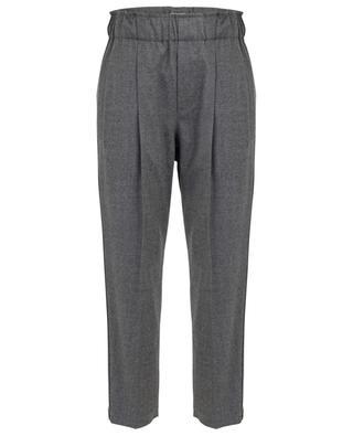 Cropped virgin wool trousers BRUNELLO CUCINELLI