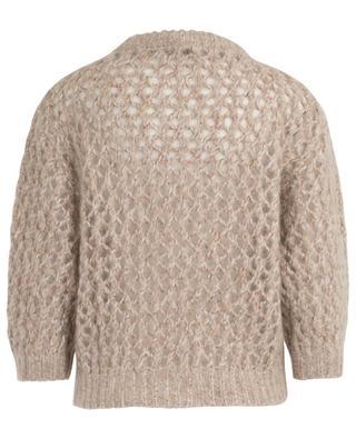 Openwork mohair and cashmere blend jumper BRUNELLO CUCINELLI