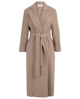 Louise open belted chevron design coat URSULA ONORATI