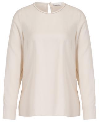 Embroidered silk blouse BRUNELLO CUCINELLI