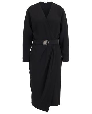 Silk blend wrap dress BRUNELLO CUCINELLI