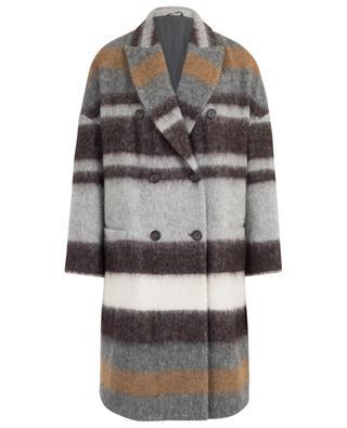Manteau en laine et alpaga mélangés BRUNELLO CUCINELLI