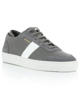 Dunk grey smooth leather and suede sneakers AXEL ARIGATO