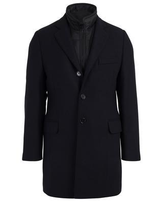 Mantel aus Wolle und Kaschmir mit Fischgrätenmotiv FAY