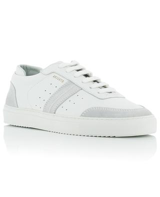 Dunk white low-top sneakers with grey suede AXEL ARIGATO