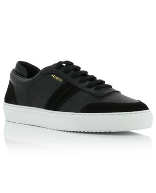 Dunk black leather and suede sneakers AXEL ARIGATO