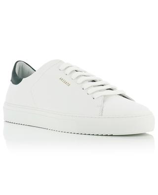Clean 90 white and dark green leather sneakers AXEL ARIGATO