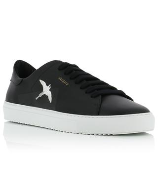 Clean 90 black bird embroidered leather sneakers AXEL ARIGATO