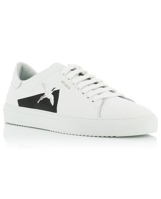 Clean 90 bird embroidered white leather sneakers AXEL ARIGATO