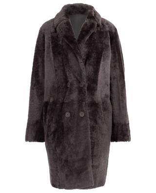 Celeste double-breasted reversible coat HEMISPHERE
