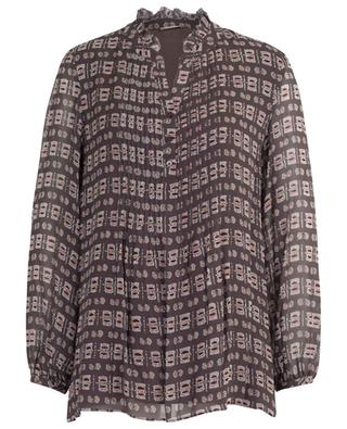 Zita print and pleated viscose blouse HEMISPHERE