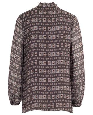 Zita print and pleated viscose blouse HEMISPHERE