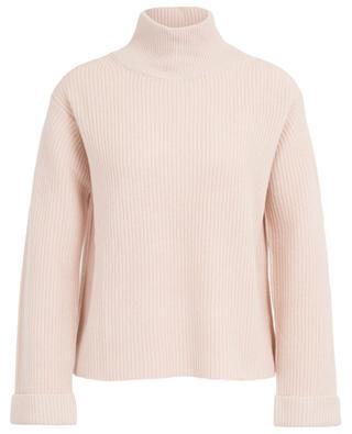 Mock collar rib knit jumper in wool HEMISPHERE