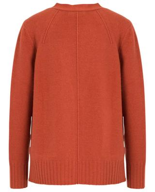Button-down V-neck cardigan in wool and cashmere HEMISPHERE
