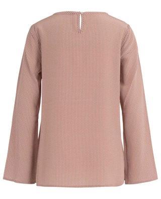 Elia pleated and print silk blouse HEMISPHERE