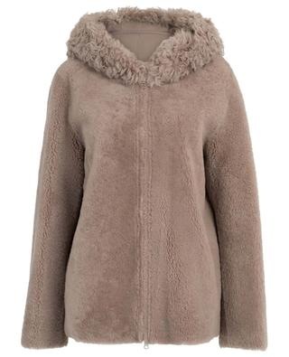 Coleen reversible hooded shearling jacket HEMISPHERE