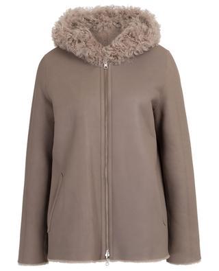 Coleen reversible hooded shearling jacket HEMISPHERE