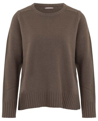 Loose jumper with side slits in wool and cashmere HEMISPHERE