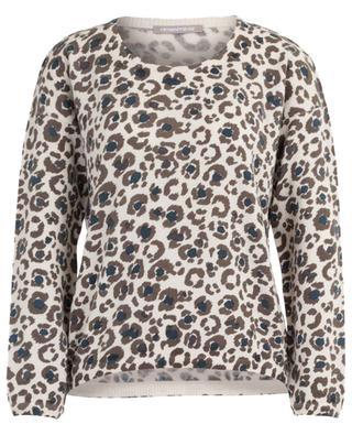 Cashmere print round neck jumper HEMISPHERE