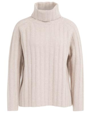 Rib knit cashmere jumper with turtleneck and raglan sleeves HEMISPHERE