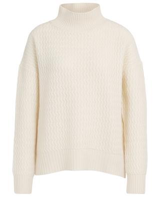 Weiter Zickzack-Strick-Pullover aus Kaschmir HEMISPHERE