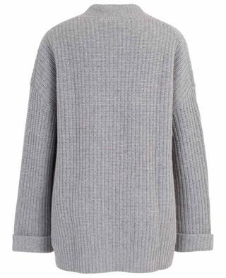Oversize rib knit cashmere cardigan HEMISPHERE