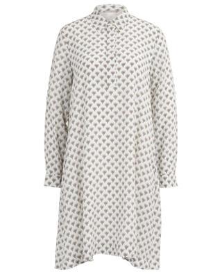 Kurzes Kleid aus Seide mit Print Edra HEMISPHERE