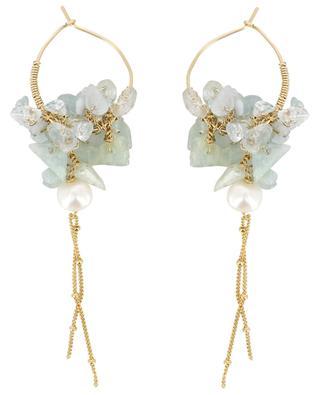 Ohrringe mit Aquamarin und Perlen Gipsy OTTOMANIA