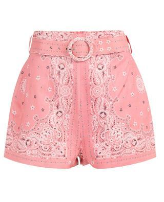 Heathers bandana print linen shorts ZIMMERMANN