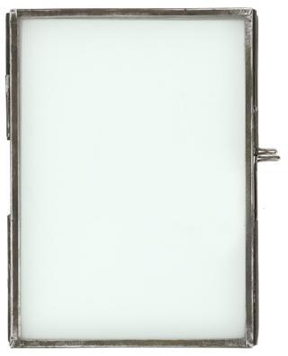 Danta foldable glass and brass photo frame NKUKU