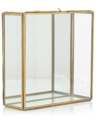 Bequai Large glass and brass box NKUKU