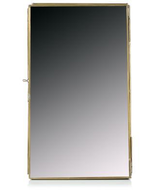 Spiegelschrang aus Messing und Glas Bequai NKUKU