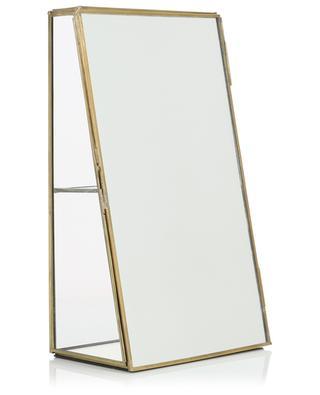Bequai glass and brass mirror cabinet NKUKU