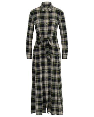Robe chemise longue en flanelle à carreaux POLO RALPH LAUREN