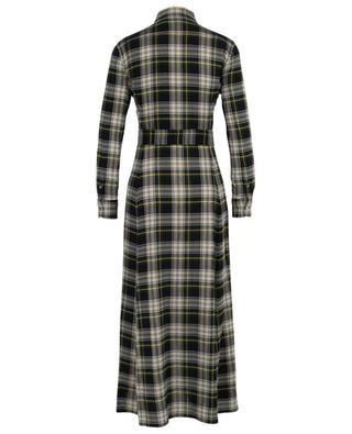 Long plaid flannel check shirt dress POLO RALPH LAUREN
