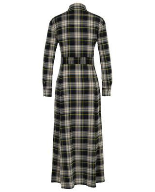 Long plaid flannel check shirt dress POLO RALPH LAUREN