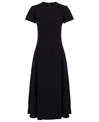 Short-sleeved flared midi crepe dress POLO RALPH LAUREN