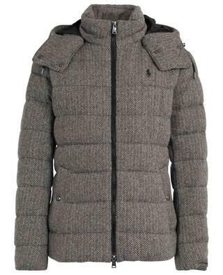 Chevron pattern wool hooded down jacket POLO RALPH LAUREN