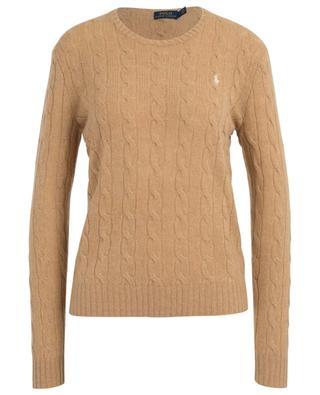 Pony fitted cable knit crew neck jumper POLO RALPH LAUREN