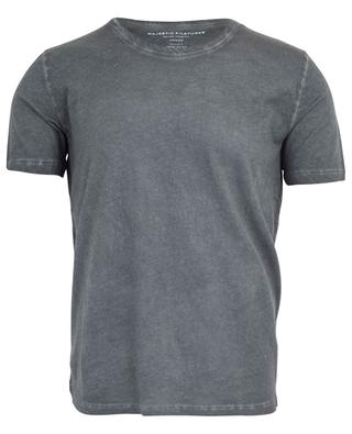 Kurzärmliges T-Shirt aus Baumwolle MAJESTIC FILATURES