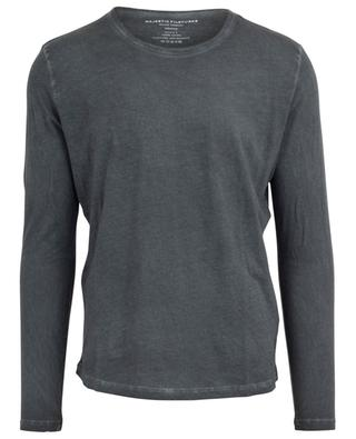 Faded looking long-sleeved T-shirt MAJESTIC FILATURES