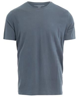 T-shirt col rond à manches courtes en coton mélangé MAJESTIC FILATURES
