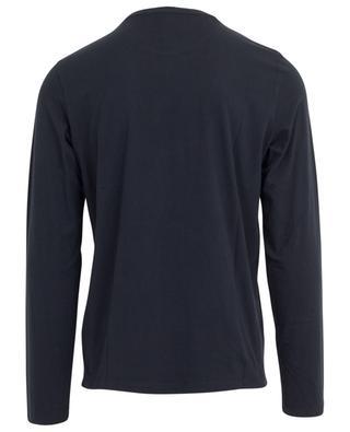 T-shirt col rond à manches longues en coton mélangé MAJESTIC FILATURES