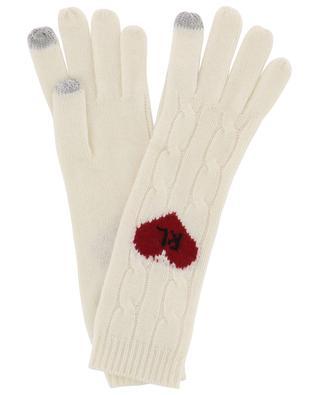Zopfstrickhandschuhe aus Wolle und Schurwolle Heart R.L. POLO RALPH LAUREN