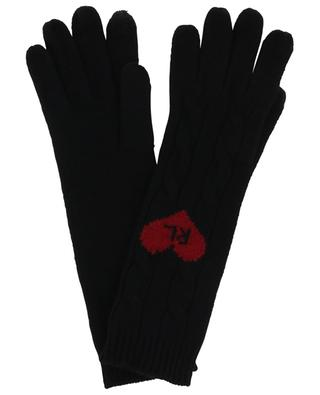 Heart R.L. wool and cashmere cable knit gloves POLO RALPH LAUREN