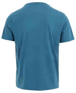 T-shirt col V à manches courtes en coton MAJESTIC FILATURES