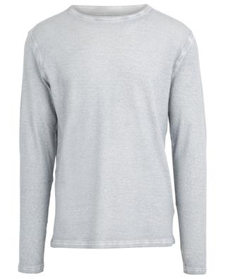T-shirt col rond à manches longues en coton et cachemire MAJESTIC FILATURES