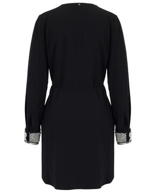 Short pearl embroidered dress with bib TWINSET