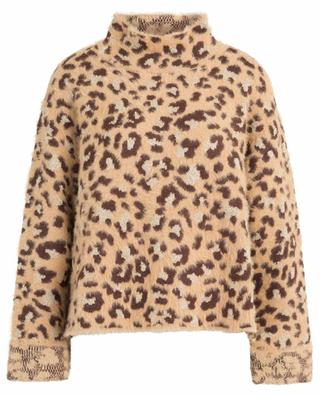 Leopard print jumper with stand-up collar TWINSET